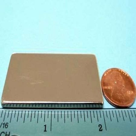 "Block N35 NiCuNi Plated 1"" x 2"" x 1/8""(A)"