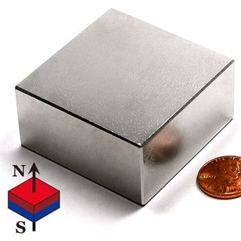 "Block N35 NiCuNi Plated 2"" X 2"" X 1""(A)"
